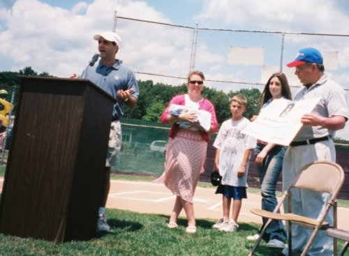 Check Presentation ceremony to Wlfd. Little League
